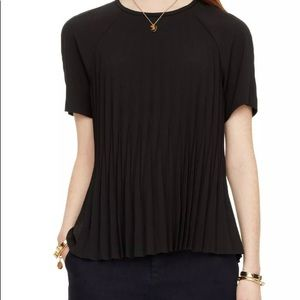 Kate Spade Pleated Crepe Top Size: Medium